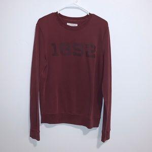 Abercrombie Maroon Crewneck Sweatshirt Size Small